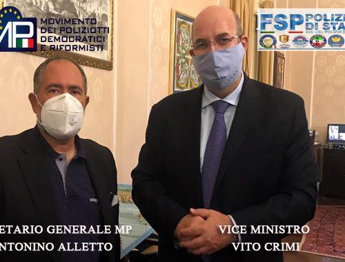 Sicurezza: incontro tra sindacati di Polizia e il viceministro Vito Crimi