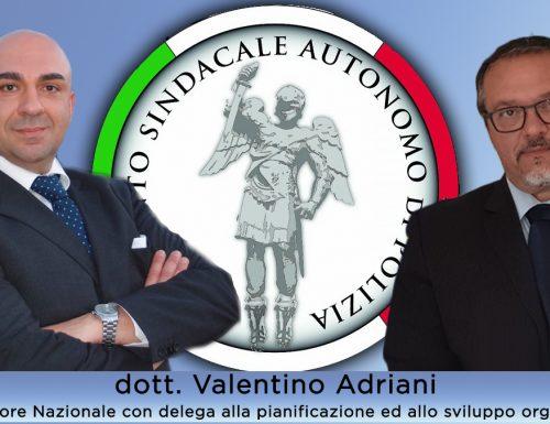 Valentino Adriani, dirigente sindacale di successo, abbraccia il  MOSAP